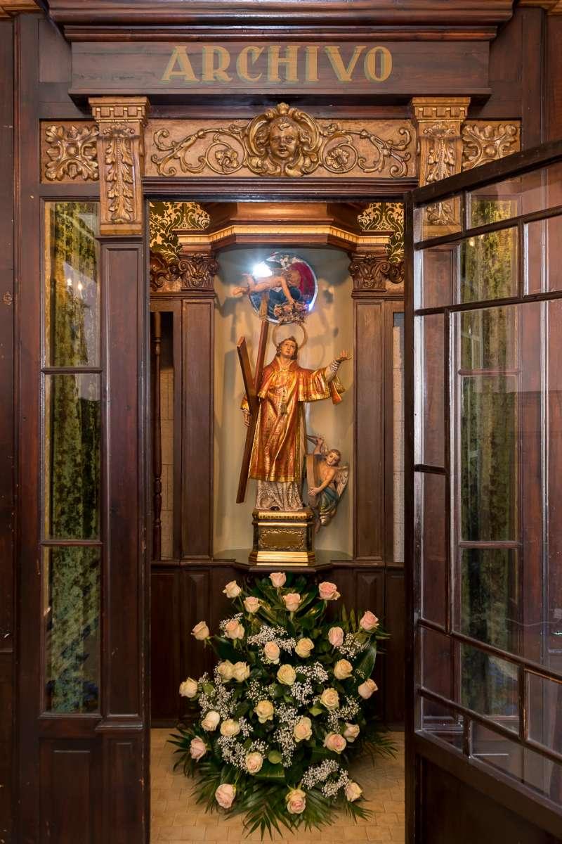 San Vicente Mártir, patrón del Gremio Artesano de Sastres y Modistas CV