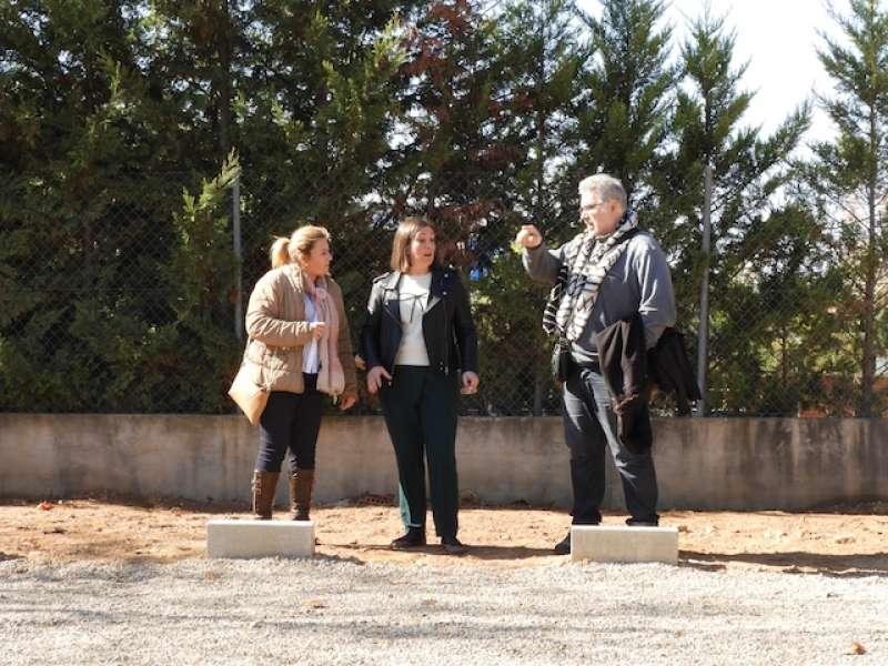 Visita de les autoritats a les obres de Mas Camarena, a Bétera. EPDA
