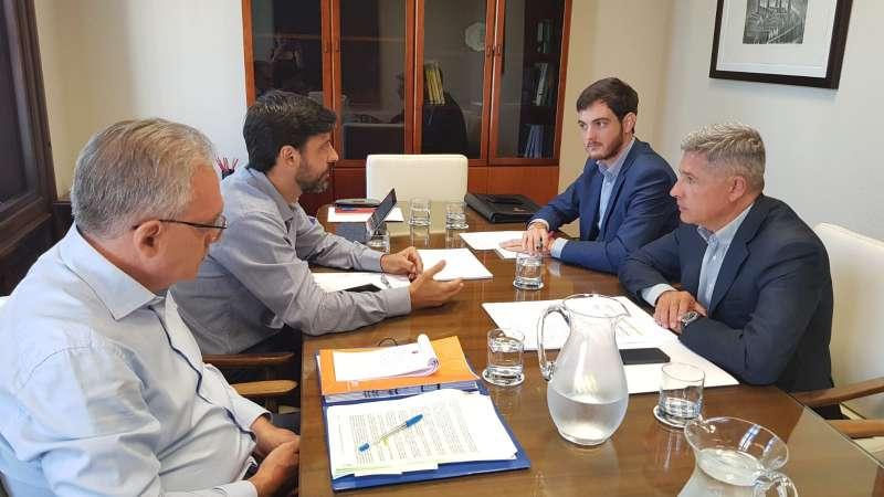 El director general de Arquitectura, Vivienda y Suelo se reúne con el secretario general de Sepes. GVA