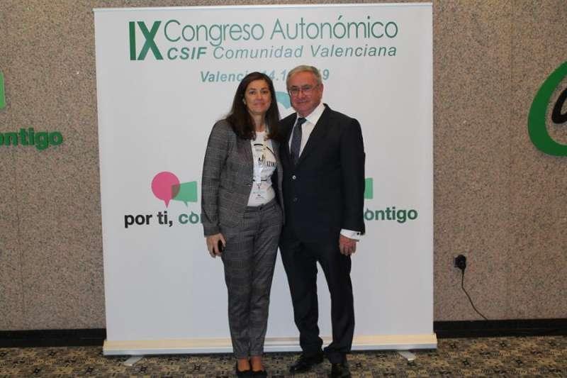 Alicia Torres y Daniel Matoses, en una imagen facilitada por el sindicato. EFE/CSIF