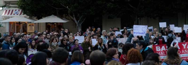 Parte de los asistentes. FOTO PACMA