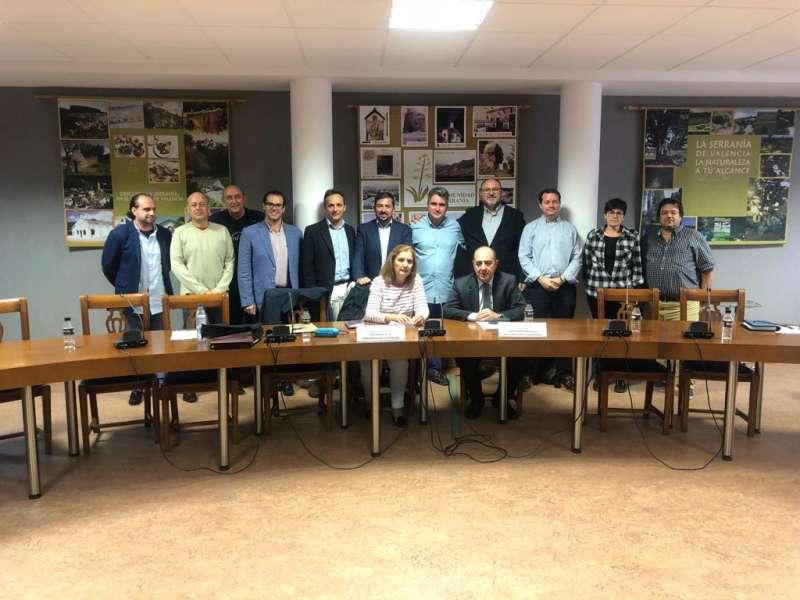 Charla de los Juristas Valencianos en la Mancomunidad de La Serranía el pasado lunes. FOTO EPDA