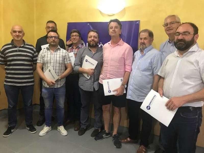 Participantes en la junta de Demócrates Valencians. EPDA