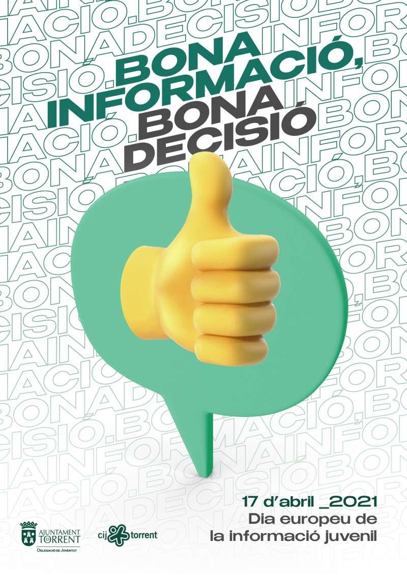 Cartel del Día Europeo de la Información Juvenil.