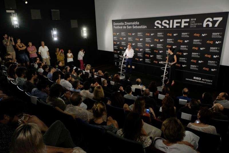 Rueda de prensa de presentación de la actual edición del Festival de San Sebastián, en una imagen de la organización