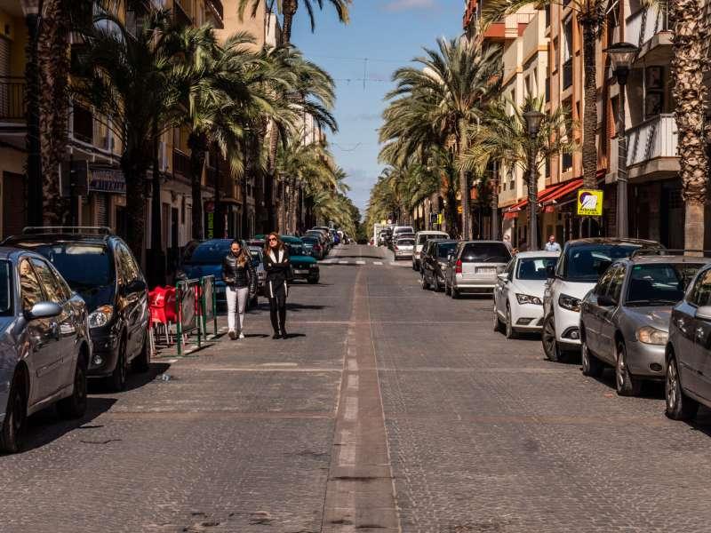 Imagen de una calle en Riba-roja./epda