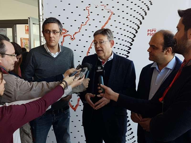 Eduardo Madina, Ximo Puig y José Carlos Díez. //EPDA
