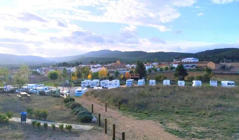 Panorámica del área de autocaravanas de Nieva. / Foto: Juan Carlos Ballester