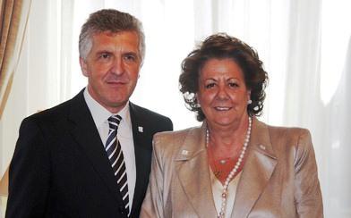 Alcaldesa y Delegado Territorial de la ONCE de Valencia. Foto EPDA