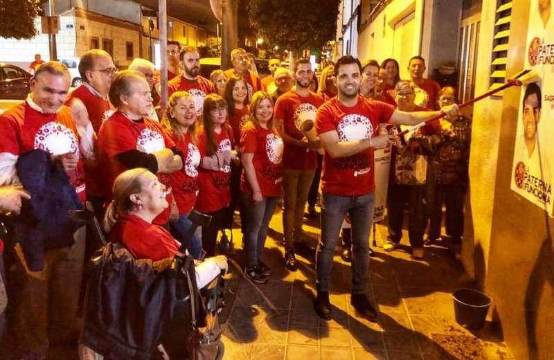 Los socialistas de Paterna en el arranque de campaña. EPDA