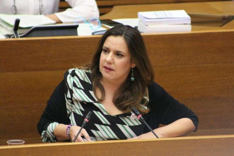 La portaveu adjunta de Compromís a les Corts, Mònica Álvaro./ EPDA