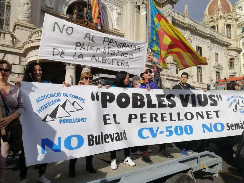 Pancarta en Ayuntamiento. EPDA