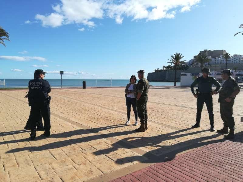 Preparativos Jura de Bandera en Peñíscola.