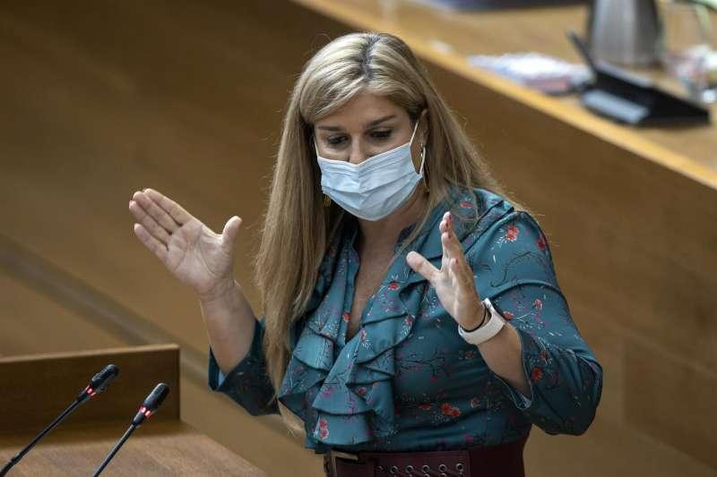 La Portavoz del grupo popular, Eva Ortíz. EFE/ Biel Alino/Archivo