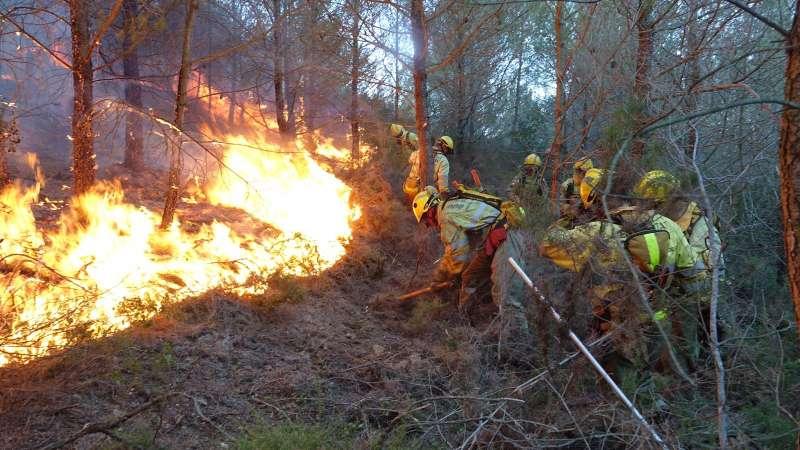Incendio en Cabanes