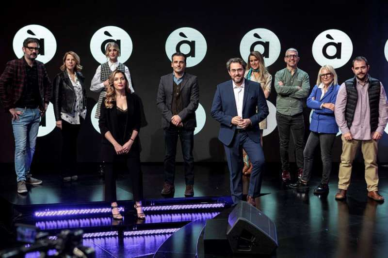 Màxim Huerta en la presentación de la nueva temporada de la televisión valenciana. EPDA