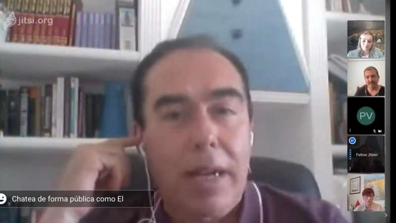 Jorge Peiró, alcalde de Jérica, durante la entrevista.