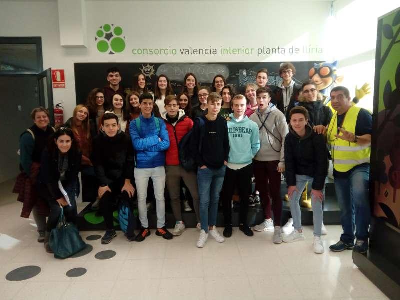 Un grupo de alumnos en una de las visitas. /  EPDA