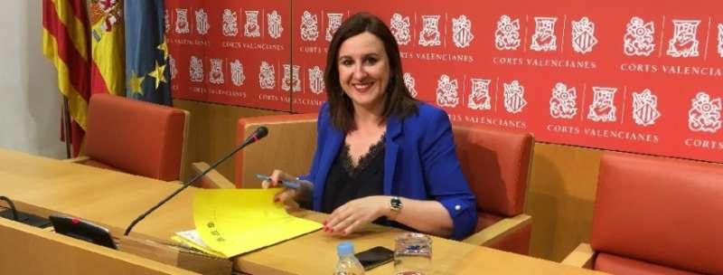 La portavoz adjunta del Grupo Popular en Les Corts, Mª José Català