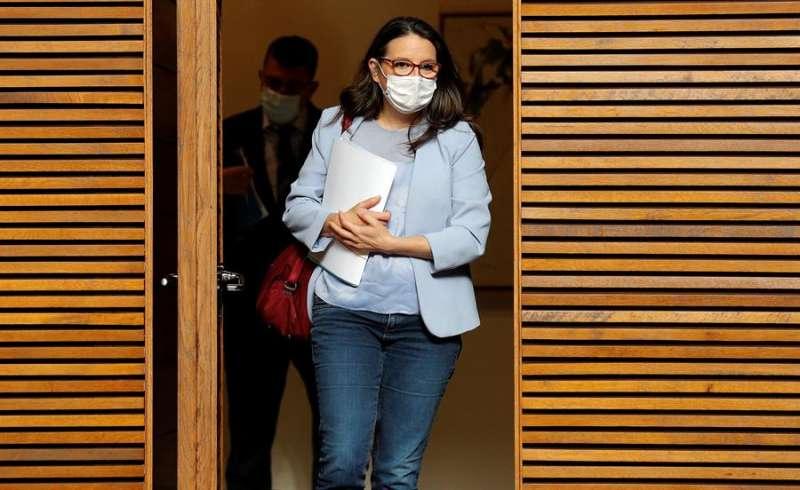 La vicepresidenta y consellera de Inclusión, Mónica Oltra. EFE/Manuel Bruque/Archivo
