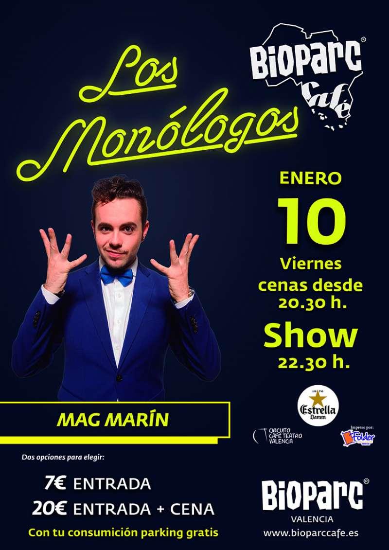 Monologísta Marc Marin en el Bioparc. -EPDA