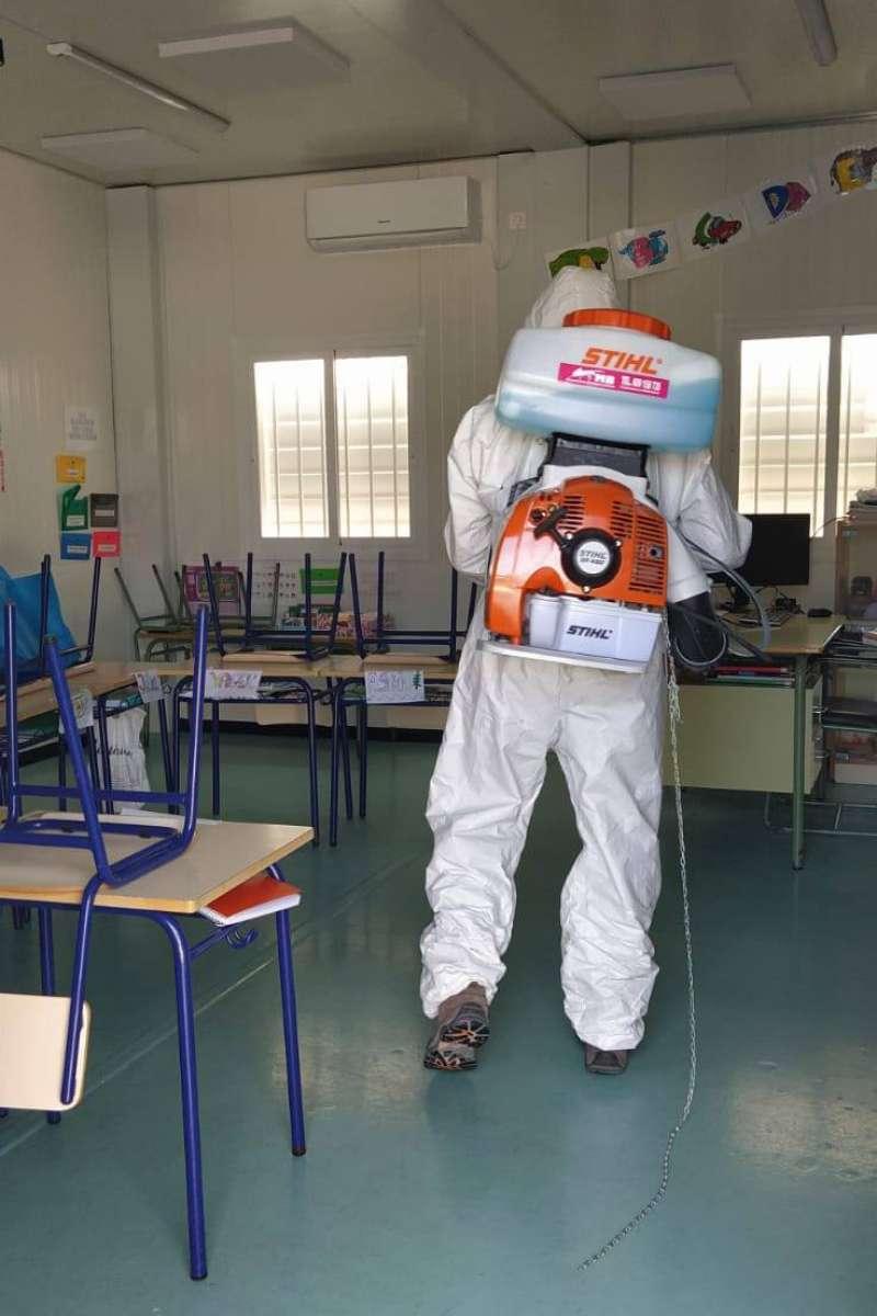 Desinfección en un centro docente