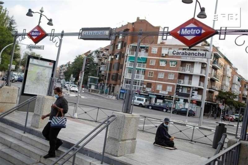 La estación de metro de Carabanchel. EFE/David Fernández