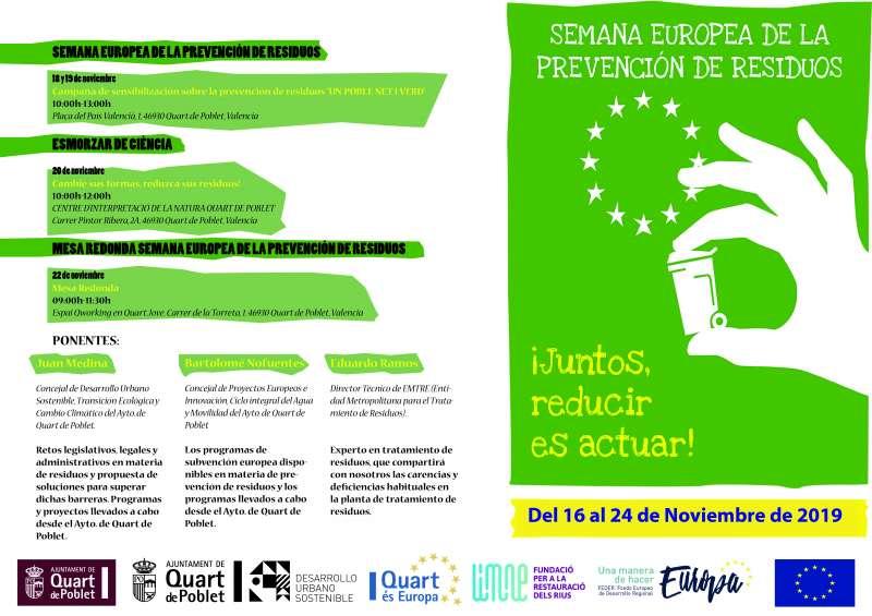 Programación de la Semana Europea de la Prevención de Residuos. EPDA