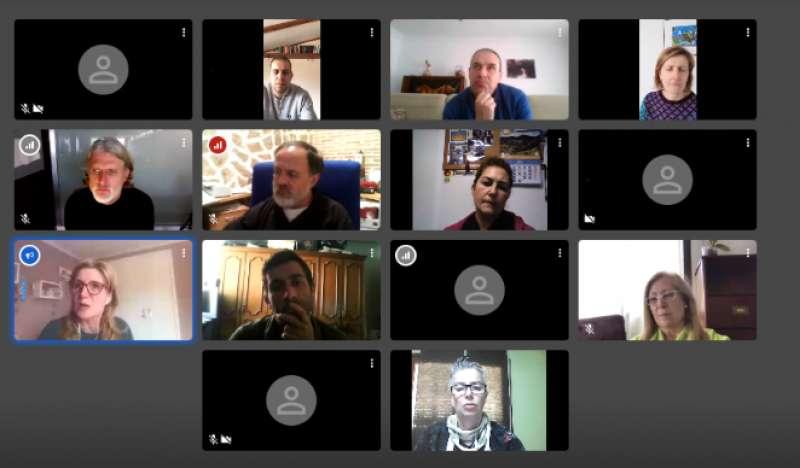 Reunión telemática de los comerciantes con la Mancomunitat. / EPDA