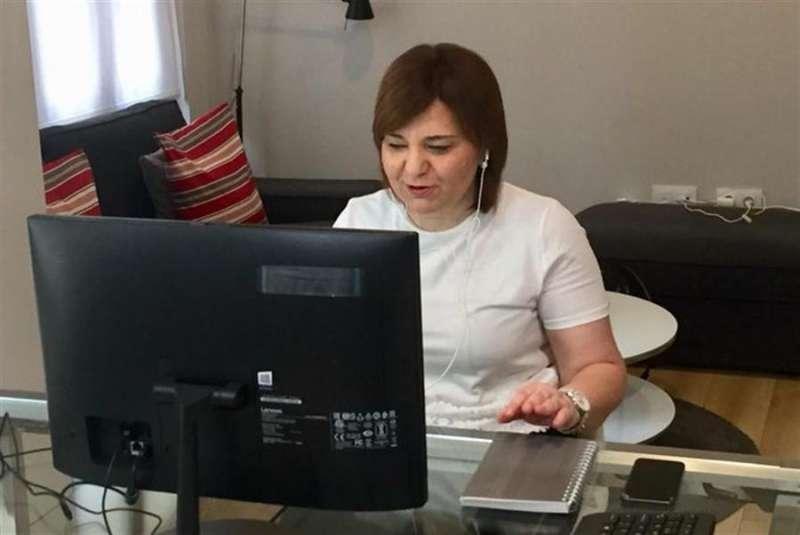 La presidenta del PPCV, Isabel Bonig, en una imagen compartida hoy en redes sociales por el partido