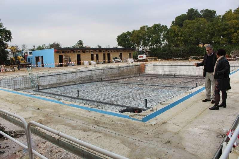 Las obras en la piscina de Albal