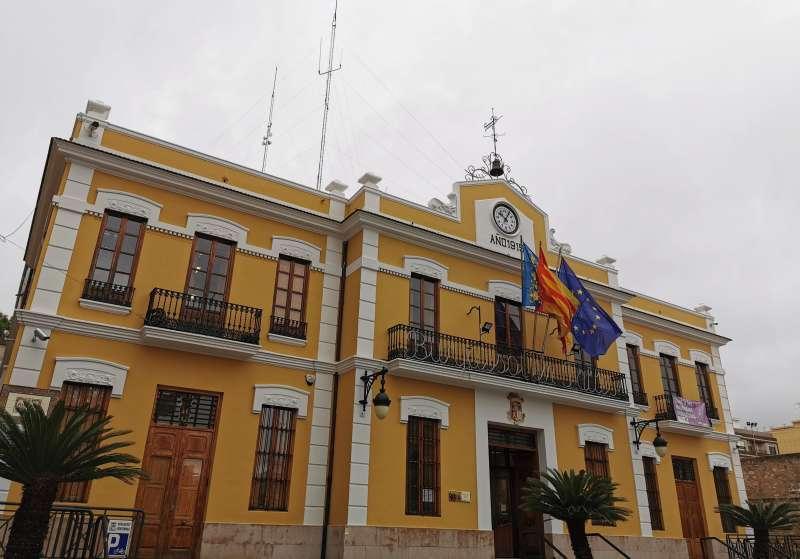 Fachada del Ayuntamiento de Burjassot. EPDA