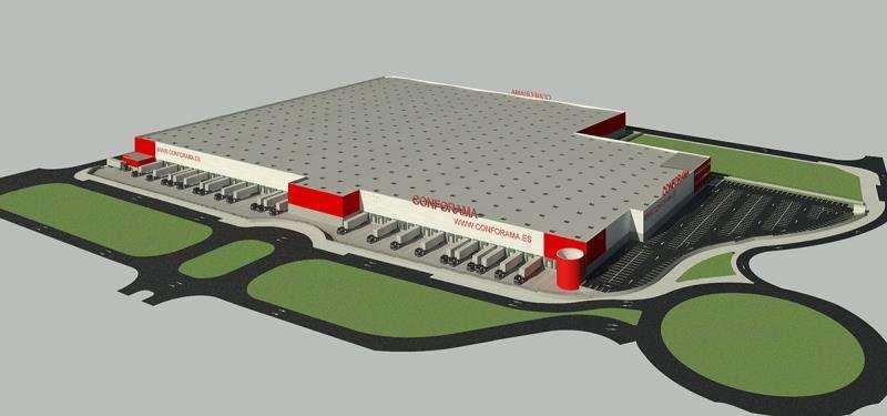 Una imagen del futuro centro, facilitado por la empresa. EFE