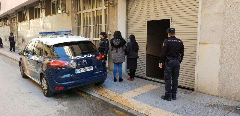 Imagen cedida por la Policía Nacional del lugar de los hechos. EFE