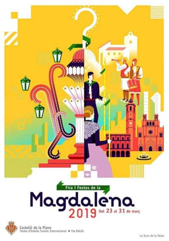 Cartel oficial de las fiestas de la Magdalena de este año. EFE