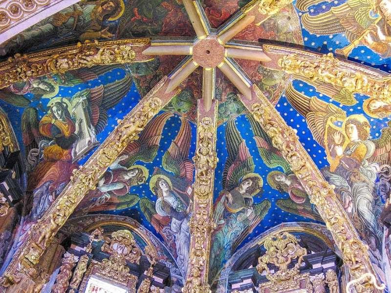 Ángeles en frescos de la Catedral. EPDA