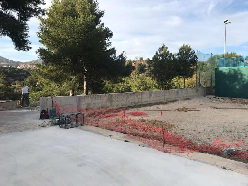 Obras de reurbanización del Parque del Planell de Buñol.