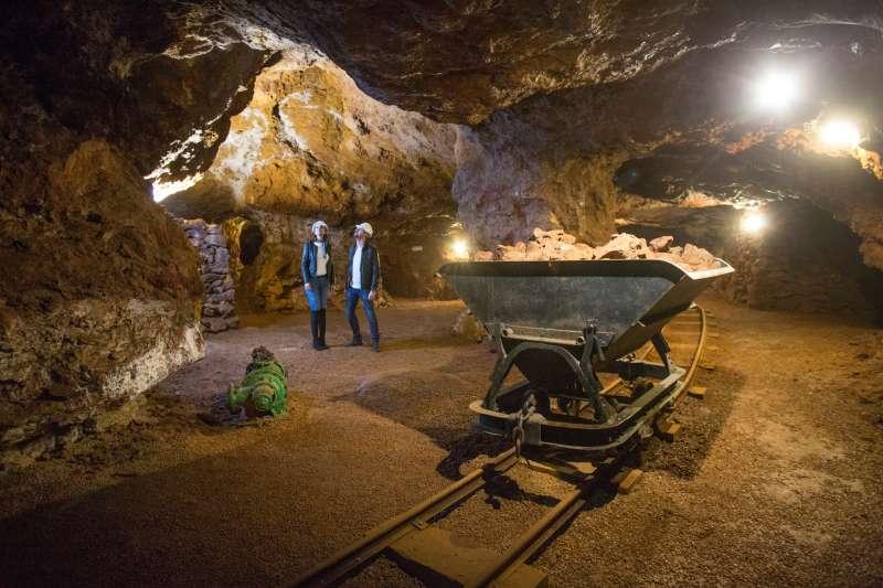 INterior de una explotación minera del Maestrat
