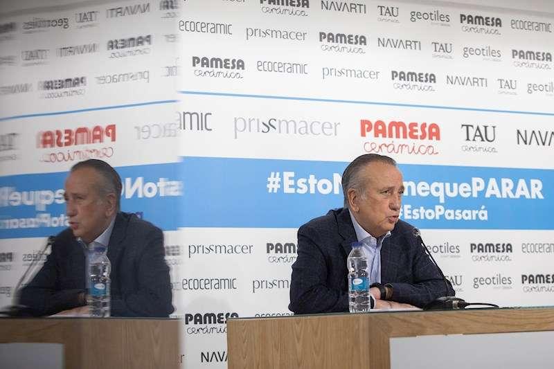 El presidente del Grupo Pamesa, Fernando Roig, durante la rueda de prensa. EFE
