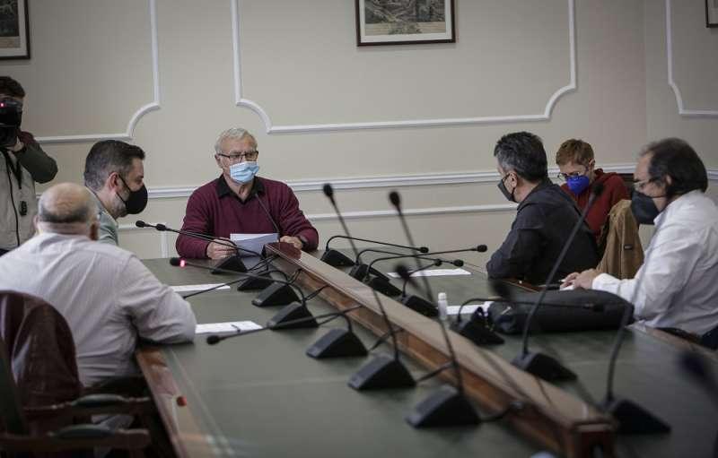Joan Ribó en la reunión. EPDA.