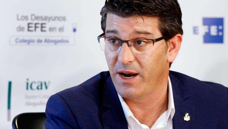 El alcalde de Ontinyent, Jorge Rodríguez, en una entrevista con la Agencia EFE. EFE/Archivo