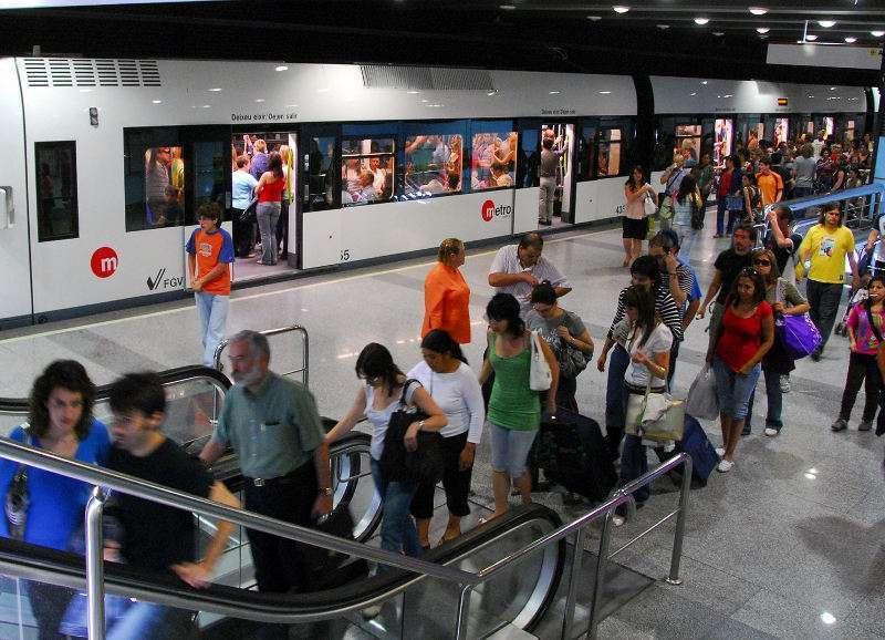 Imagen archivo del metro de València. -EPDA