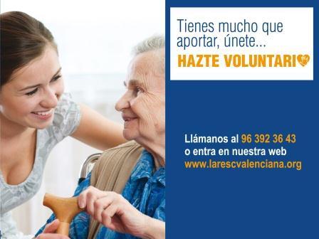 Cartel anunciando la importancia del voluntariados para Lares CV.