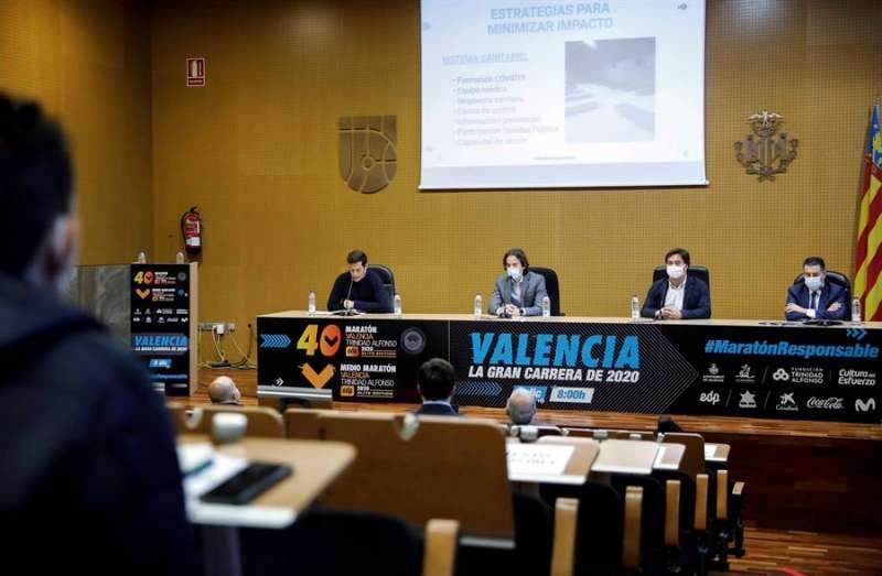 Presentación del maratón València Trinidad Alfonso EDP
