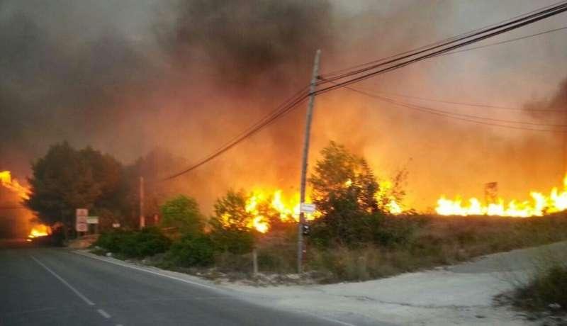 Panorama desolador de los últimos incendios de Benitatxell i Bolulla