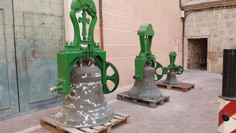 Campanas que están siendo restauradas. Foto: V. Bonanad