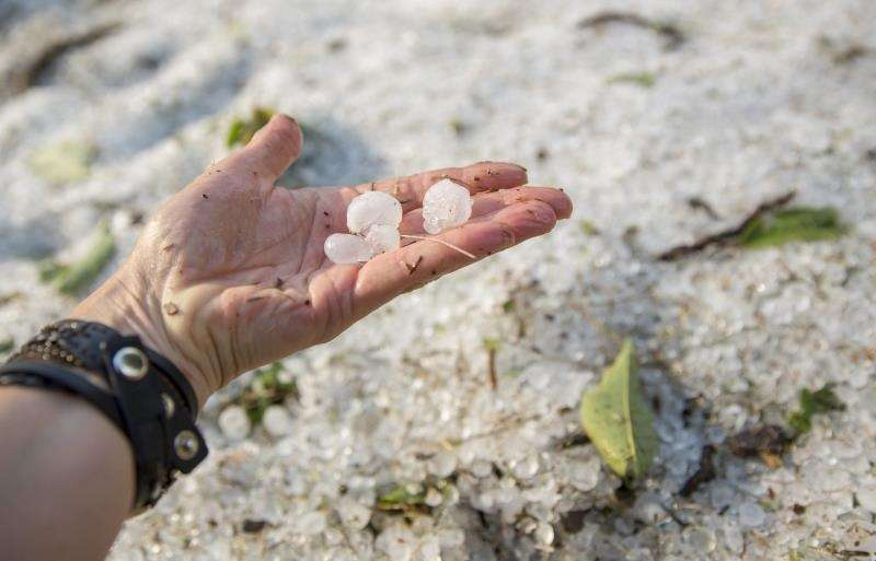 La Unió cifra en 3,6 millones de euros los daños por el granizo MTI113. Oroshaza (Hungary), 06/08/2017.- Hailstones cover the ground after a thunderstorm in Oroshaza, 196 kms southeast of Budapest, Hungary, 06 August 2017. (Hungría) EFE/EPA/Tibor Rosta HUNGARY OUT[HUNGARY OUT]