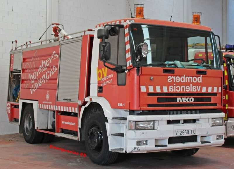 Un camión de bomberos. / EPDA