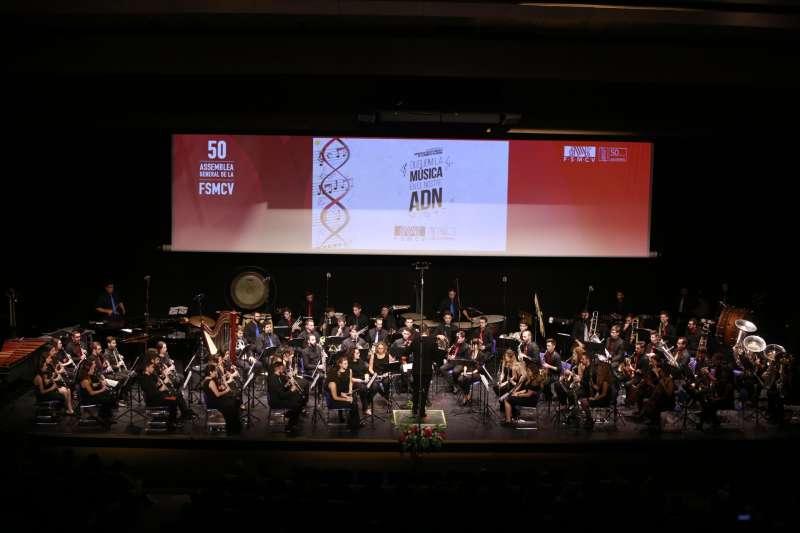 Un momento del evento en el Palau de la Música. FOTO EPDA