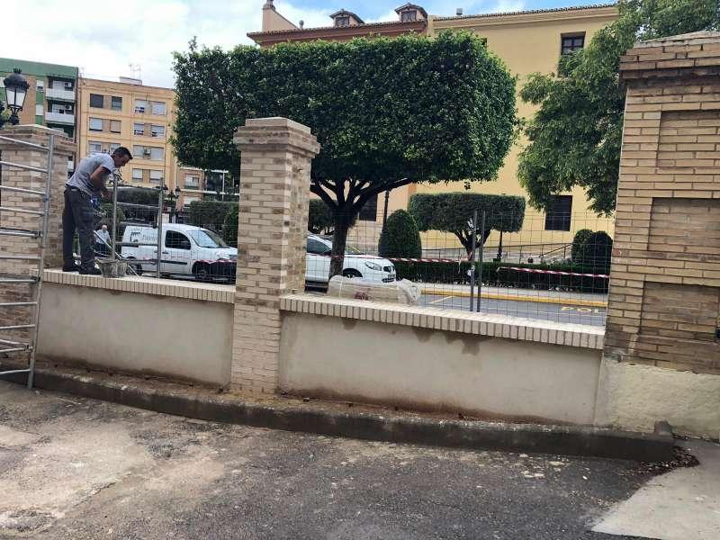 Obras de mejoras en diferentes centros educativos de Paterna.